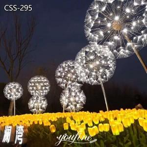 Outdoor Lighting Metal Dandelion Sculpture for Sale CSS-295