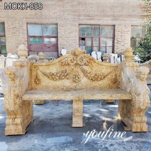 Natural Marble Bench Garden Decor from Factory Supply MOKK-858