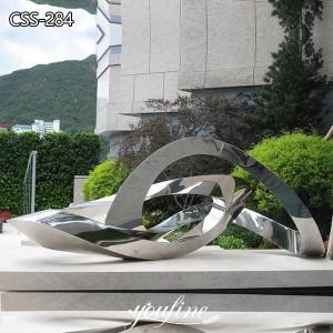 Modern Abstract Metal Sculpture Drifting Clouds Urban Decor for Sale