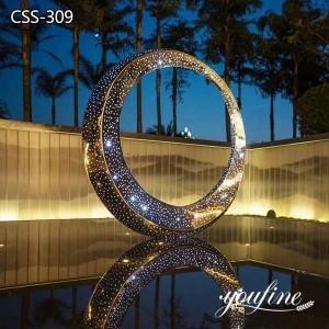 Outdoor Lighting Metal Garden Sculpture for Sale CSS-309