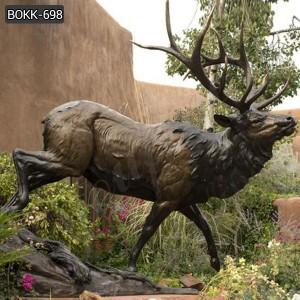 Elegance Lifesize Outdoor Bronze Deer statue for Gareden BOKK-698