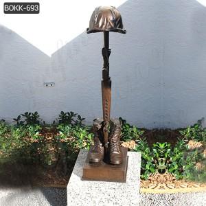 Battle Cross Fallen Soldier Statue for Sale BOKK-693