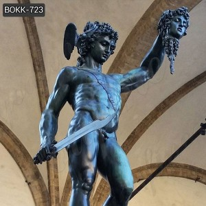Western Famous statue Bronze Perseus with the Head of Medusa Sculpture for garden–BOKK–723