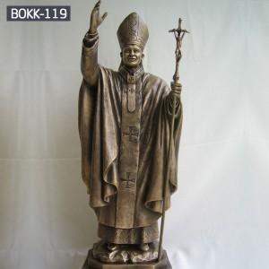 Life Size Bronze Pope Sculpture John Paul II for Sale BOKK-119