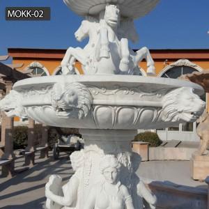 Pure white garden decoration marble outdoor fountain for sale MOKK-02