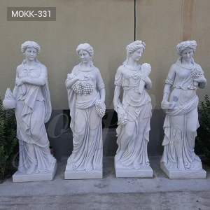 Detailed Carving Four Seasons Statues Garden MOKK-331