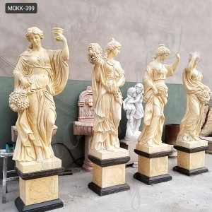Natural Marble Four Season Maidens Sculpture MOKK-399