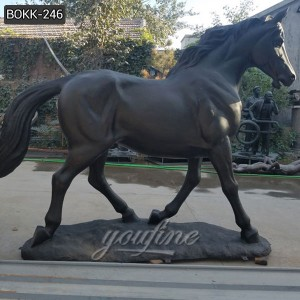 Life Size Outdoor Decoration Bronze Horses for Sale –BOKK–246