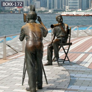 Custom Made Statues Lawn Sculpture Male Female Sculpture for Scenic spot Decorations BOKK-172