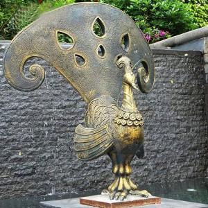 Bronze peacock garden statue bronze peacock statue