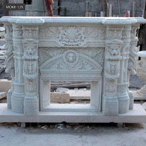 Marble fireplace mantel surround modern marble fireplace mantel MOKK-129