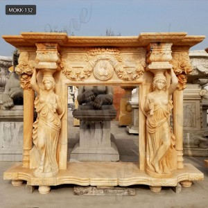 mantels for stone fireplaces marble fireplace mantel surround MOKK-132