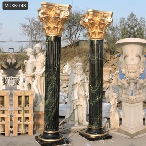 Large Outdoor Marble Round Porch Columns MOKK-148