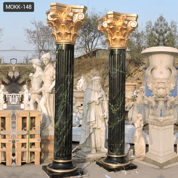Large Outdoor Marble Round Porch Columns MOKK-148 Featured Image