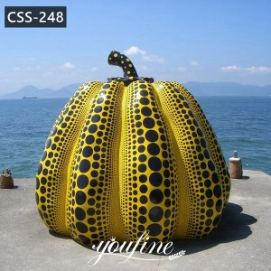 Outdoor Large Metal Spotted Pumpkin Sculpture Yard Decor CSS-248