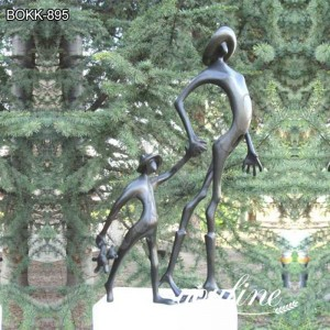 Outdoor Modern Bronze Abstract Statue Garden Decor for Sale BOKK-895