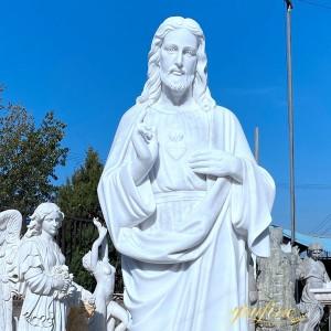 Church decoration marble jesus christ statue for sale MOKK-424