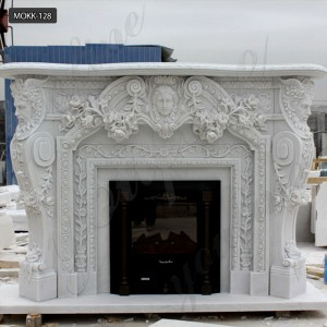 Marble fireplace for sale mantels for stone fireplaces MOKK-128