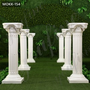 Decorative White Marble Roman Wedding Columns for Sale MOKK-154