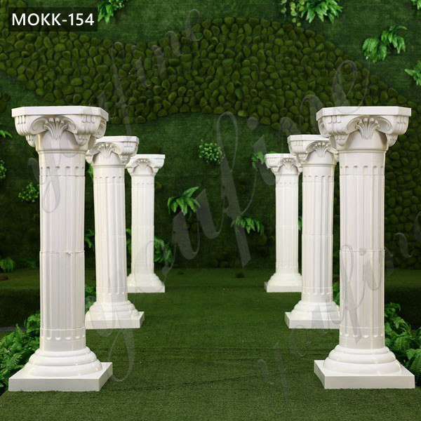 Decorative White Marble Roman Wedding Columns for Sale MOKK-154 Featured Image