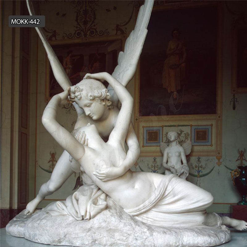 Famous Marble Replica Cupid and Psyche Statue for Sale MOKK-442 Featured Image
