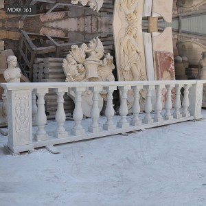Marble Balcony Staircase Balustrade marble balustrade stone railing MOKK-363