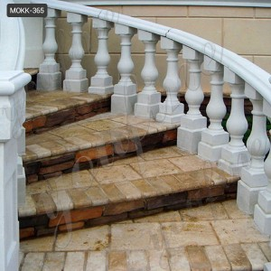 Home decoration ornamental  white marble balustrade for sale MOKK-365