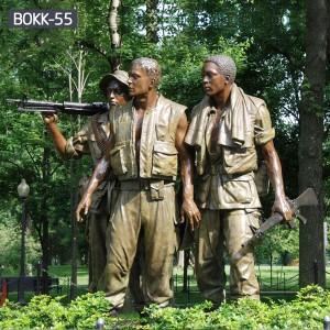 Life Size Three Soldiers Vietnam Veterans Memorial Statue for Sale BOKK-55