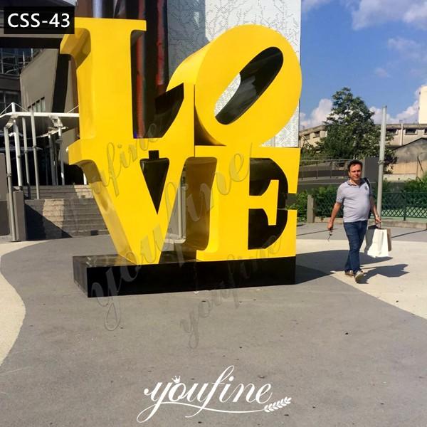 Outdoor Modern Stainless Steel Love Sculpture Feedback Photos Show CSS-43