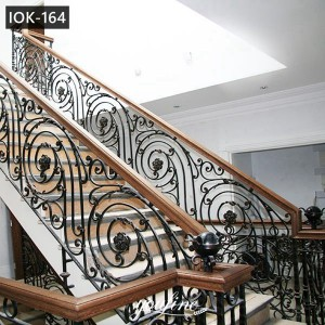 Decorative Wrought Iron Railing for Interior House for Sale IOK-164