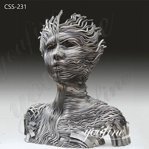 Abstract Stainless Steel Human Figure Metal Sculpture for Sale CSS-231