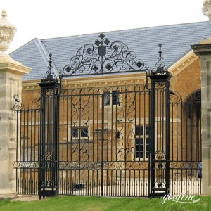 High Quality Wrought Iron Gate House Decor Factory Supply IOK-257