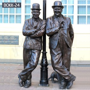 Custom Statue Designed Custom Life Size Sculptures Famous Figure Statue of Laurel and Hardy BOKK-24
