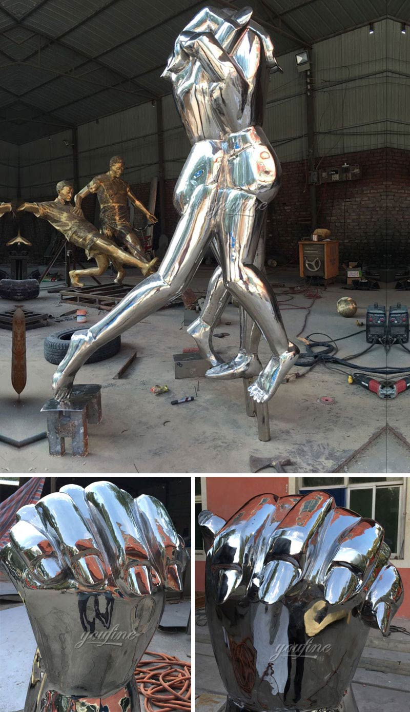 Buy outdoor mirror modern abstract metal arts yard sculptures for sale for American Customers