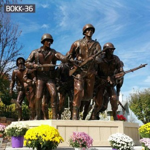 Outdoor Group Bronze Military Statues Memorial Park for Sale BOKK-36