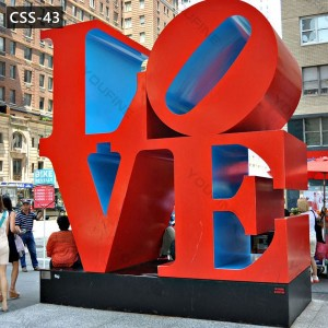 Outdoor Modern Stainless Steel Love Sculpture for Sale CSS-43