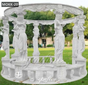 Park decor column popular marble gazebos designs marble gazebos for outdoor MOKK-20