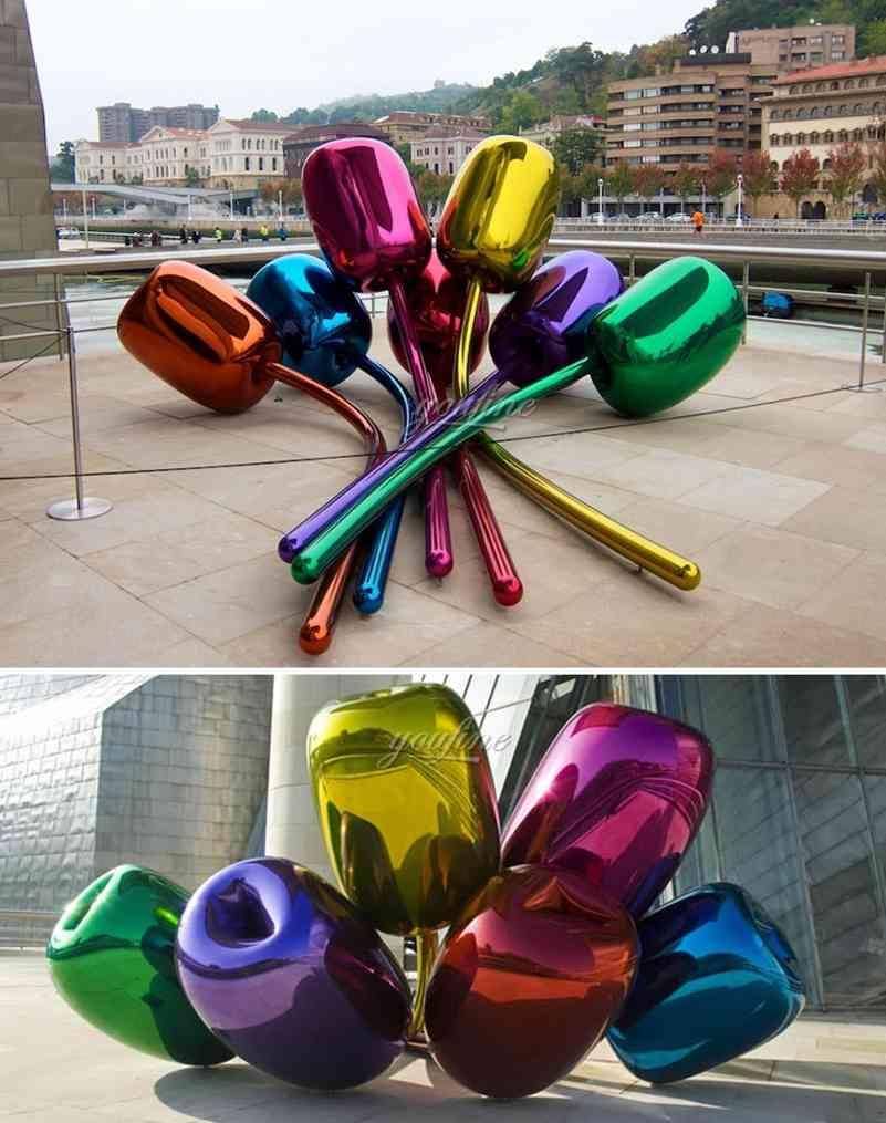 metal art tulip sculpture-6