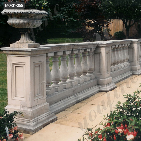 Home decoration ornamental  white marble balustrade for sale MOKK-365 Featured Image