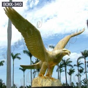 Outdoor decoration animal statue bronze eagle sculptures BOKK-340