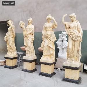 Natural Marble Four Season Maidens Sculpture MOKK-399