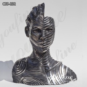 Custom Metal Abstract StainlessSteelRibbon Figure Sculpture for Sale CSS-232
