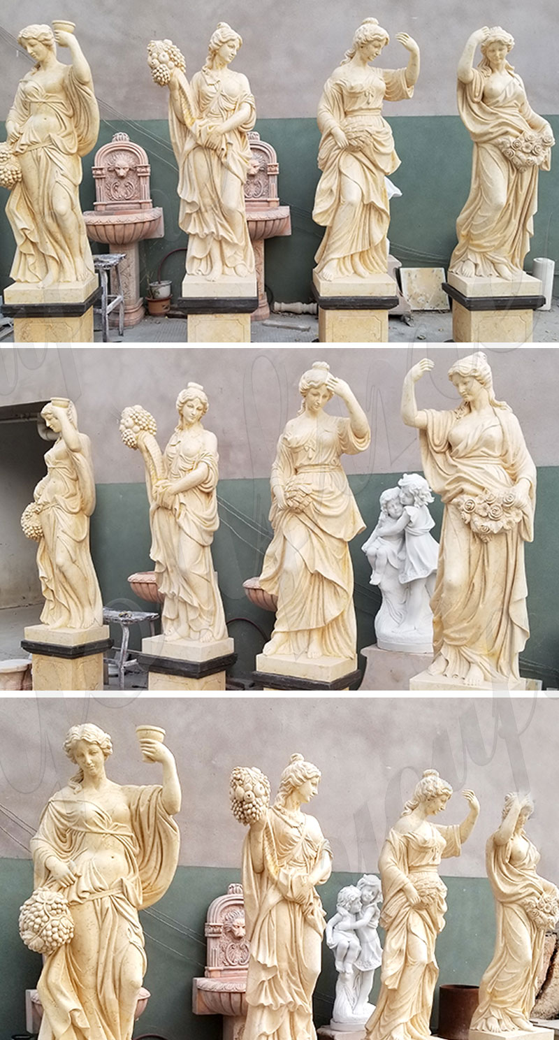 life size marble four seasons goddesses statue for sale