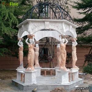 Beautiful Outdoor Marble Stone Gazebo with Maiden Design Supplier MOKK-552