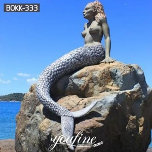 Life Size Outdoor Bronze Mermaid Pool Statue Wholesale BOKK-333