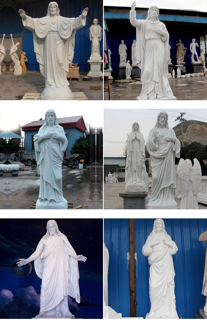 more  marble Jesus statue