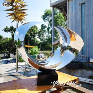 Polished Stainless Steel Abstract Sculpture Decor from Factory Supply CSS-404