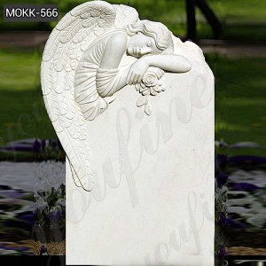 Buy Hand Carved White Marble Angel Tombstone for Sale MOKK-566