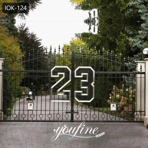 Factory Supply Cheap Fence Gate Wrought Iron Driveway for Sale IOK-124