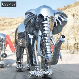 Modern Abstract Stainless Steel Elephant Sculpture Home Ornament for Sale CSS-137